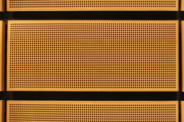 Pannelli fonoassorbenti rifiniti in legno - Pannelli fonoassorbenti decorativi ...